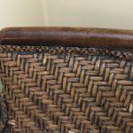 fotel tekowy pleciony