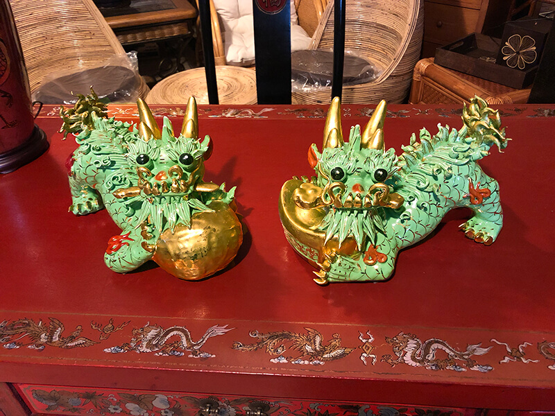 Chińskie lwy - ceramika