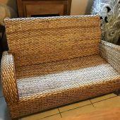 sofa pleciona z rattanu