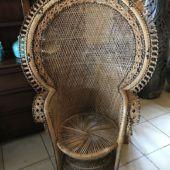fotel pleciony