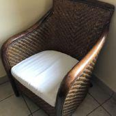 fotel tekowy