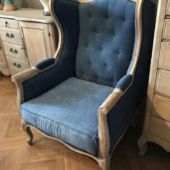 fotel tapicerowany uszak