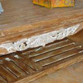 ława z drewna tekowego
